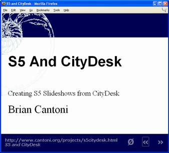 CityDesk Slideshow Screenshot