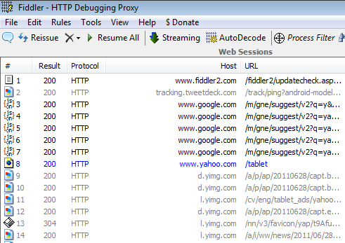 Debug HTTP Traffic From Android Tablets Using Fiddler